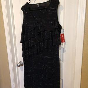 NWT Rafaella Navy Sleeveless Knit Dress XL